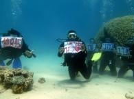 Подводные поздравления
