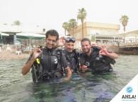 полный состав группы Open Water Diver в Эйлате